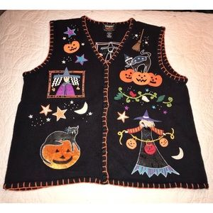 """Sweaters - Vintage """"Ugly"""" Halloween Sweater Vest"""